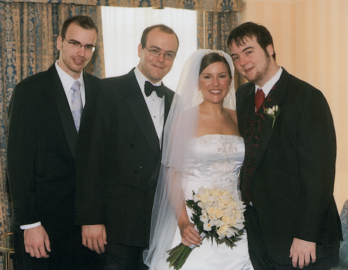 Jean and her brothers, before the ceremony