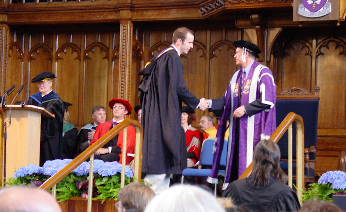 Receiving the degree